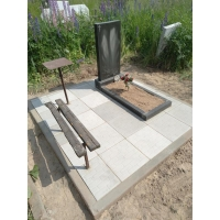 Обустройство могилы на кладбище Федяково