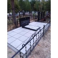 Установили памятник на благоустроенное захоронение на Сормовском кладбище