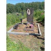 Установили бордюр по периметру захоронения на кладбище Федяково