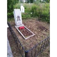 Уборка захоронения на кладбище Вязовка