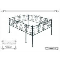 Металлическая ограда с порошковым покрытием для мест захоронений 15