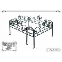 Металлическая ритуальная ограда на кладбище 21