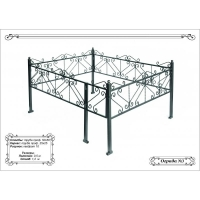 Металлическая ритуальная ограда с порошковым покрытием 23