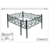 Металлическая ритуальная ограда с порошковым покрытием на могилу 25