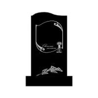 Памятник из карельского гранита П10 Форма Малая волна