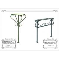 Металлические столик и лавка №2