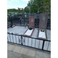 Благоустройство захоронения на кладбище в Ольгино