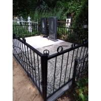 Установка памятника и благоустройство захоронения на Бугровском кладбище