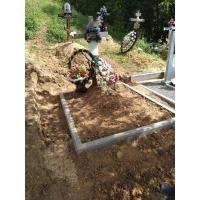 Установка бордюра на кладбище Федяково
