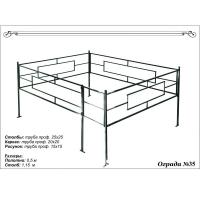 Металлическая ограда с порошковым покрытием на могилу 09