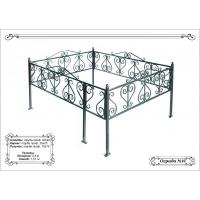 Металлическая ритуальная ограда на могилу 22
