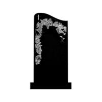 Памятник из карельского гранита П07 С тумбой и цветником