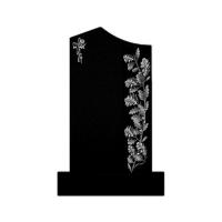 Памятник из черного гранита П09 Круговая полировка стелы тумбы и цветника