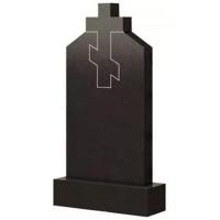 Фигурный памятник из гранита Ф02 с большим крестом